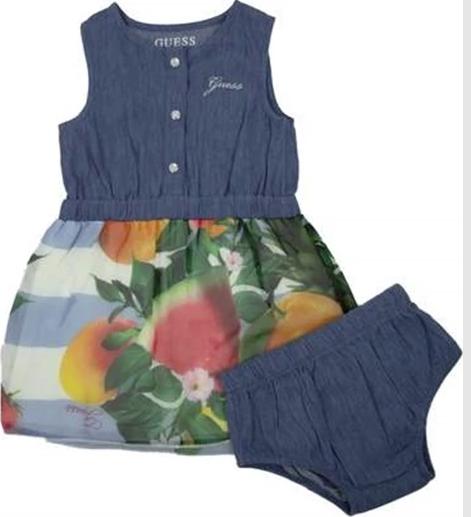 MIXED FABRIC SL DRES GUESS | Dress | A1GK23WDVG0LBTL