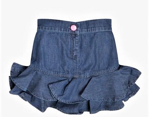 CHAMBRAY SKIRT GUESS | Skirt | K1RD06D3SU0BDGB