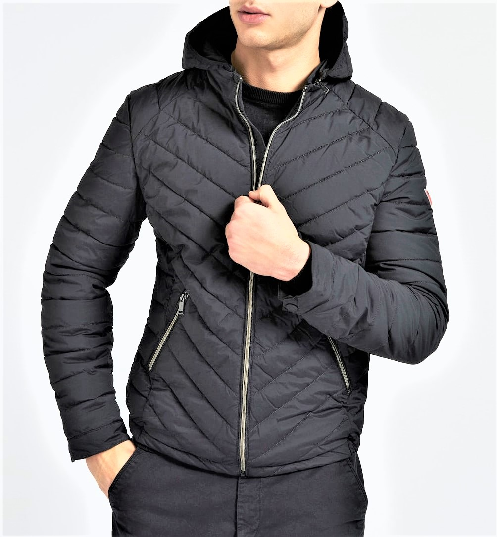 SUPER FITTED HOODED GUESS | Giubbino | M1TL15WDN20JBLK