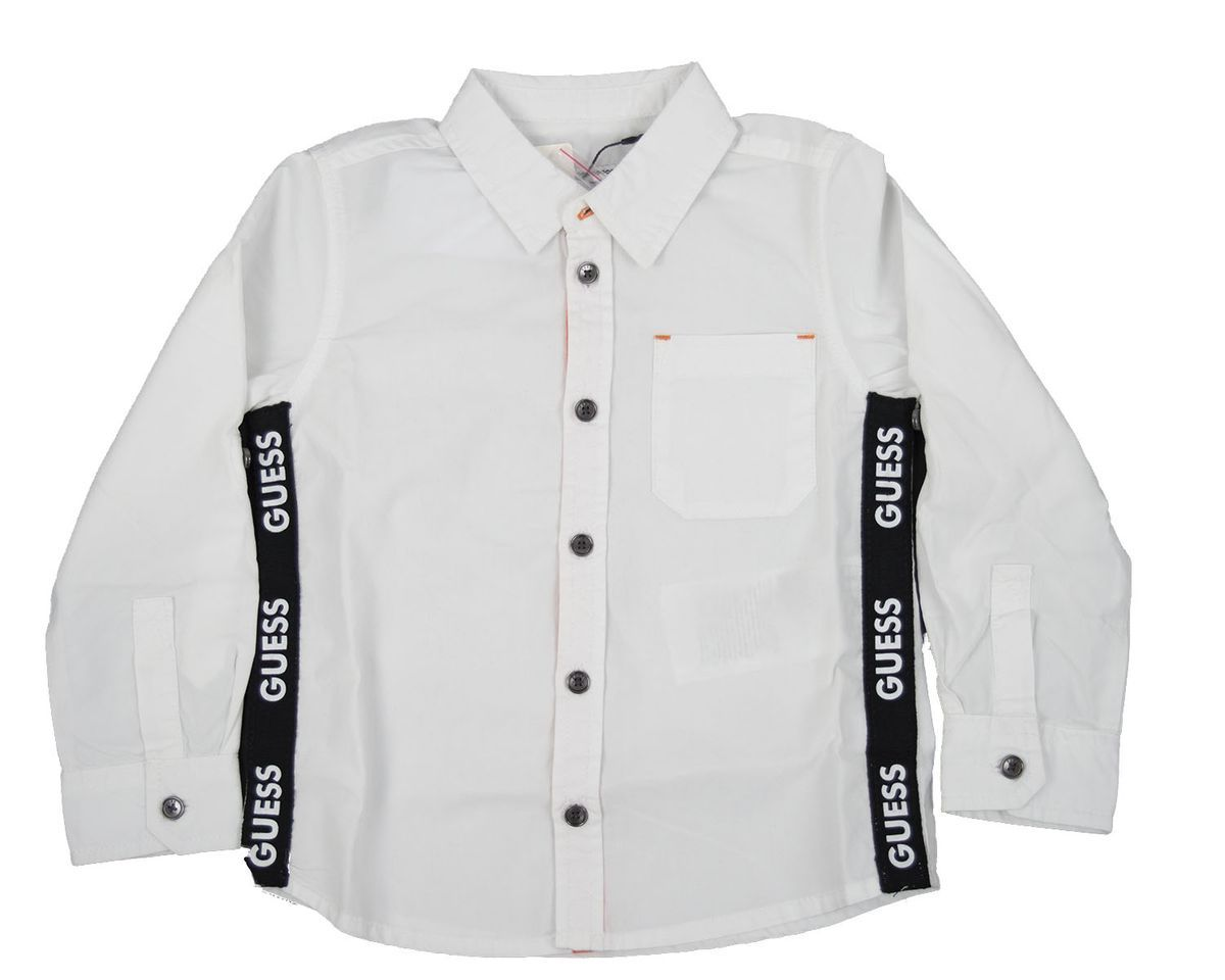 PEACH POPELINE ADJUSTABLE GUESS | Shirt | N1RH01WDLI0TWHT