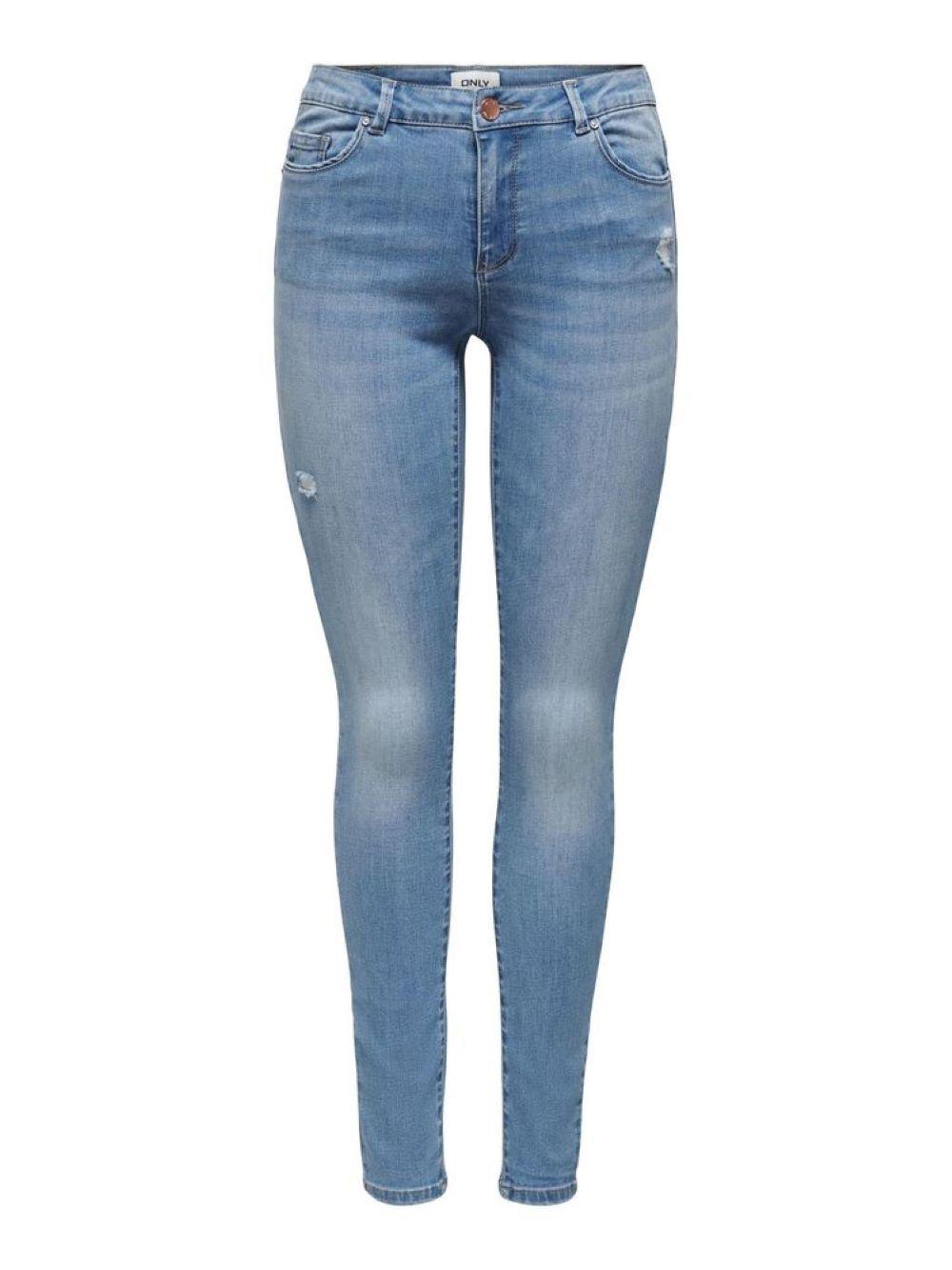 ONLWAUW LIFE LS MIDSK DEST BJ759 NOOS ONLY | Jeans | 15223165LIGHTMEDIUMBLUEDENIM