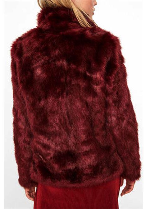 VERO MODA | Fur | 10180658ZINFANDEL