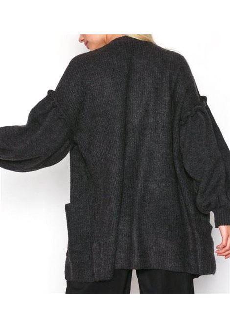 VMBLUMI BALLOON LS OPEN CARDIGAN  VERO MODA | Jersey | 10201490DARKGREYMELANGE
