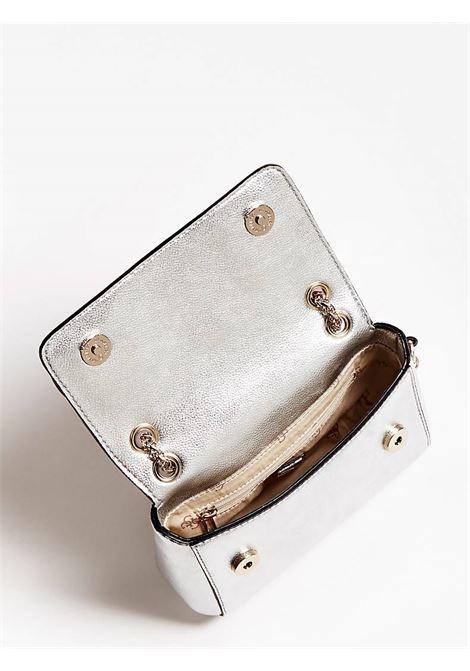 CARINA MINI CONVERTIBLE XBODY FLAP GUESS | Bag | HWMG7412780SIL