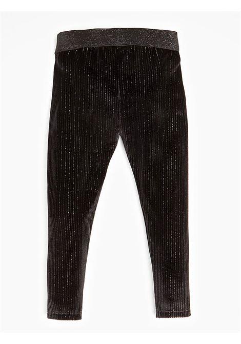 GLITTER CORDDUROY LEGGINGS GUESS | Trousers | K94B04WC6S0JBLK