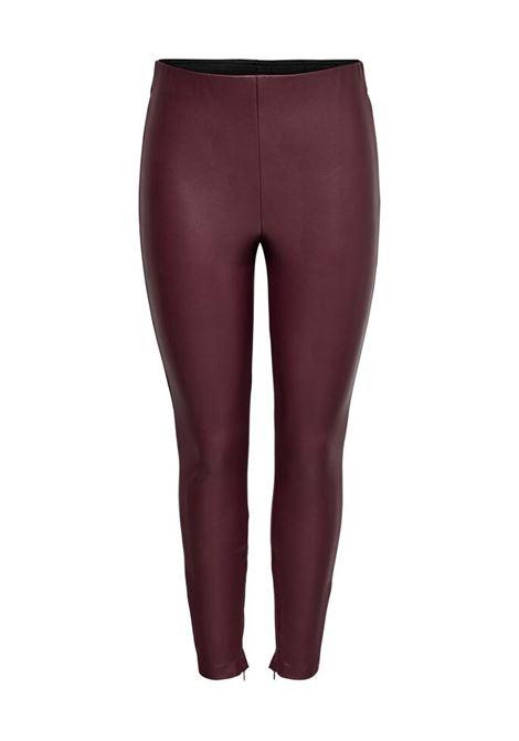 ONLVIVI FAUX LEATHER LEGGING ONLY | Trousers | 15168108MERLOT