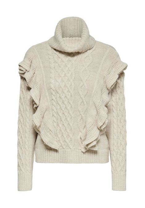 ONQTERESA LS HIGH NECK PULLOVER KNIT ONLY   Jersey   15217582PUMICESTONE