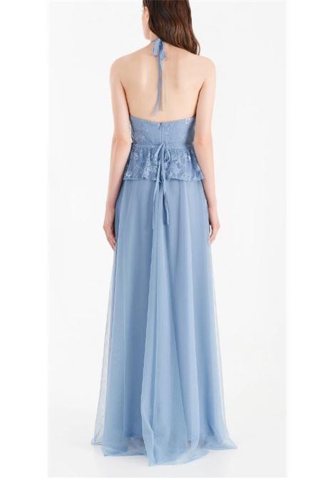FULL-LENGTH LACE DRESS RINASCIMENTO | Dress | CFC0104894003AZZURRO