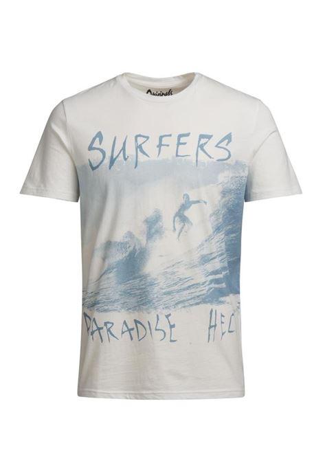 JORJAW TEE SS CREW NECK JACK&JONES | T-shirt | 12120909CLOUDDANCERSLIMFITS