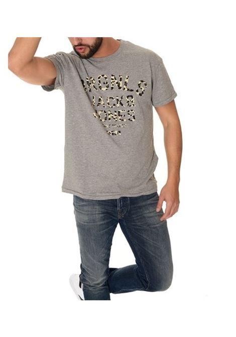 JORPAT TEE SS CREW NECK JACK&JONES | T-shirt | 12117007LIGHTGREY
