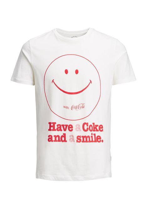 JORCOKE TEE SS CREW NECK JACK&JONES | T-shirt | 12131730CLOUDDANCER