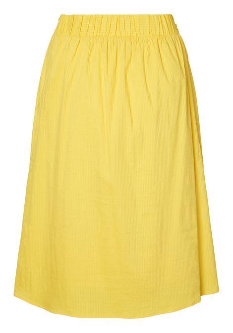 SIA CALF SKIRT VERO MODA | Skirt | 10192514CREAMGOLD