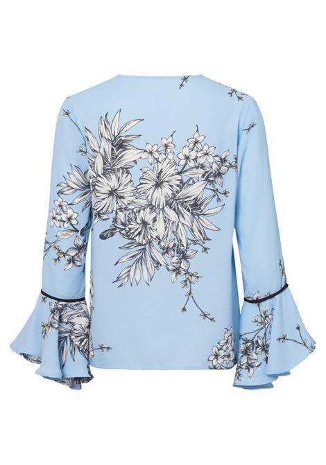 SATINA FLAIR 7/8 TOP VERO MODA | Shirt | 10195876CELESTE