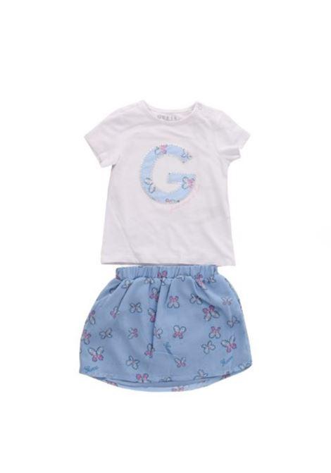 SET SS T SHIRT +SKIRT GUESS | Outfit | A01G10K82K0TWHT