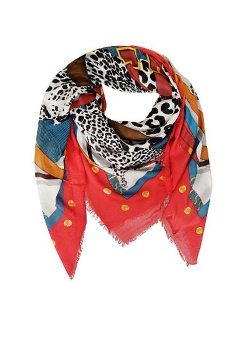 PRINTED 130 X 130 GUESS   Scarf   AW8380VIS03RED