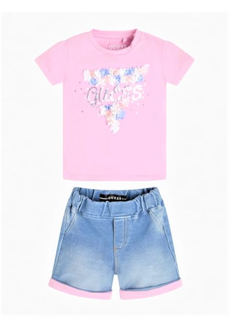 SET SS TSHIRT PANTS GUESS | Outfit | A1RG16K6YW0CRMV