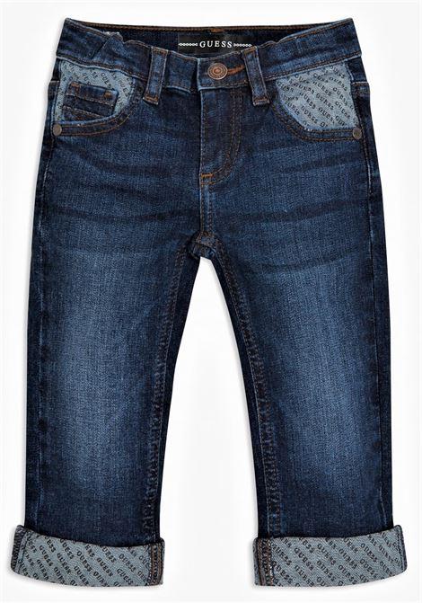 DENIM SLIM FIT PANTS GUESS | Pantaloni | N1RA02D46T0LPBW