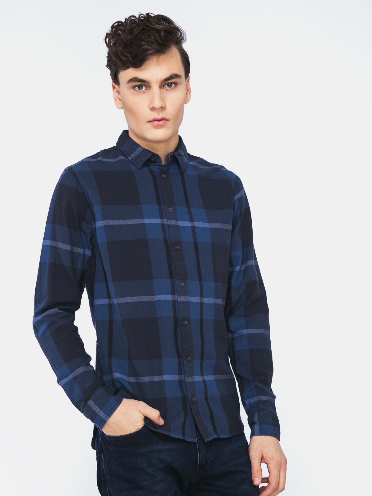 Camicia fantasia Blend | Camicia | 2070176470260 ENSIGN BLUE