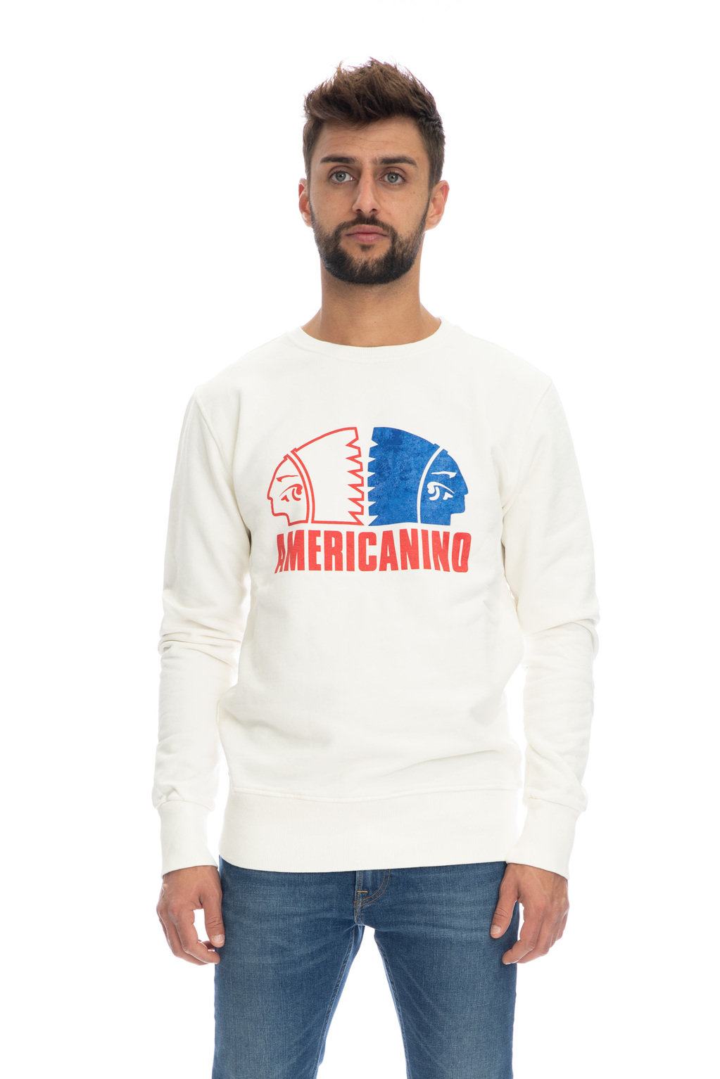 Felpa logo Americanino | Felpe | AMER051OFF WHITE