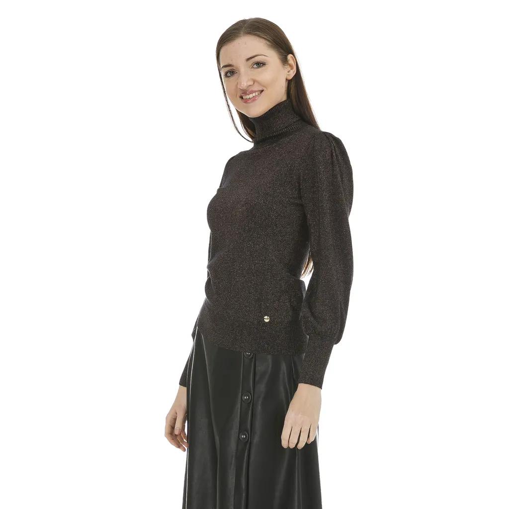 maglia collo alto FLY GIRL | Maglia | 10790/01900 NERO
