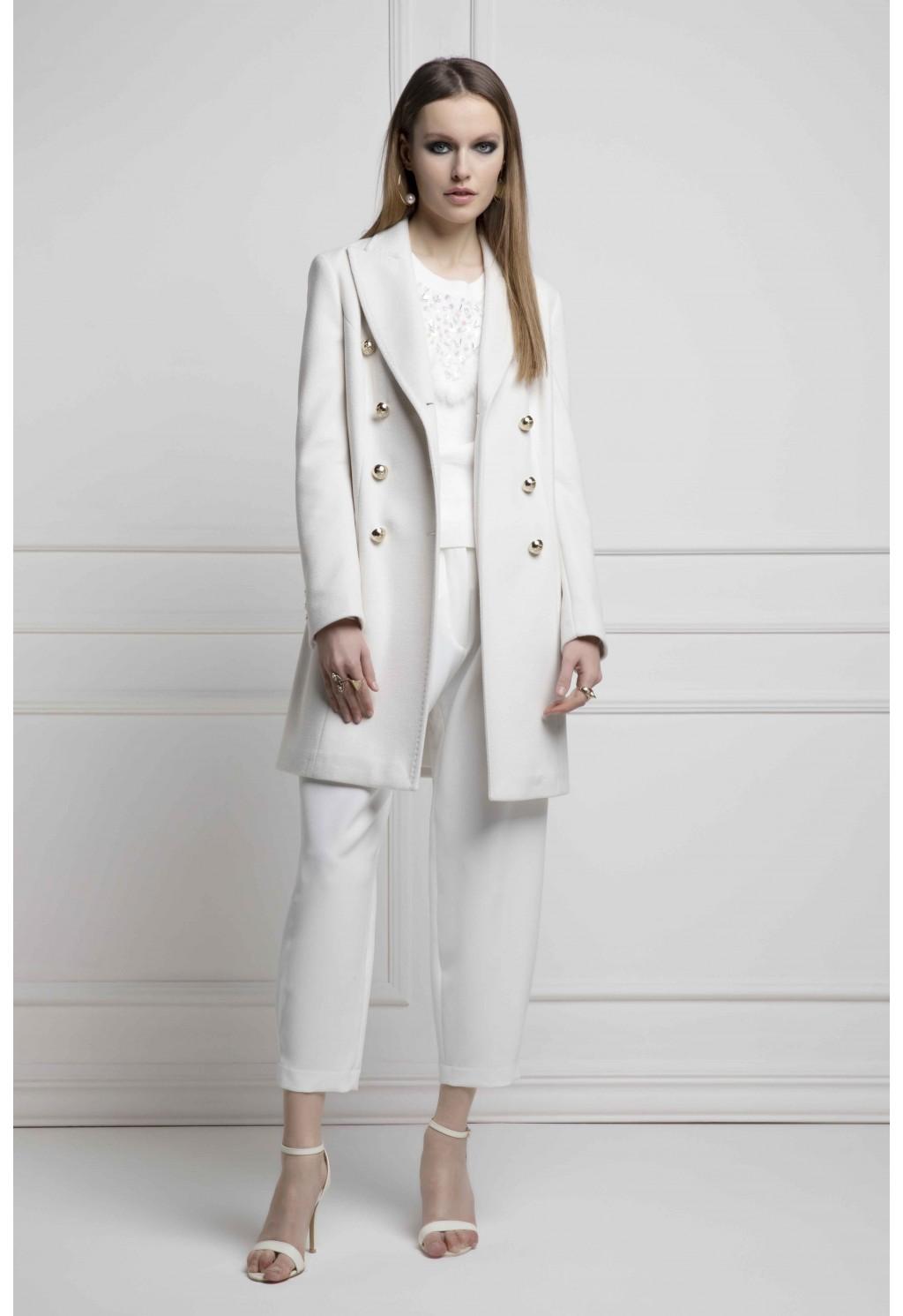 cappotto slim FLY GIRL | Cappotti | 6614/01218 PANNA
