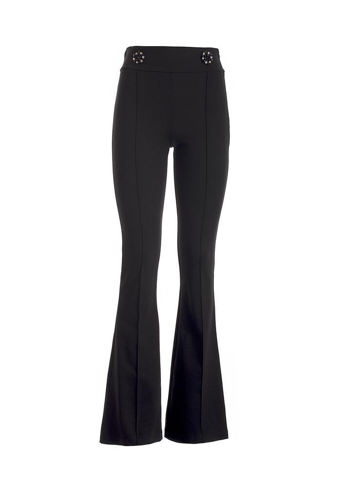 Pantaloni bootcut in tessuto stretch FRACOMINA | Pantalone | F120W10049W03501053 BLACK