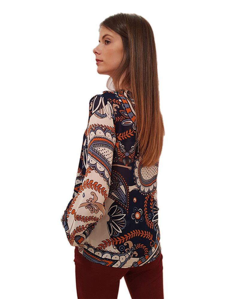 Blusa fantasia FRACOMINA | Camicie | F220WT1002W123I3H95 NIGHTBLUEFANTASY