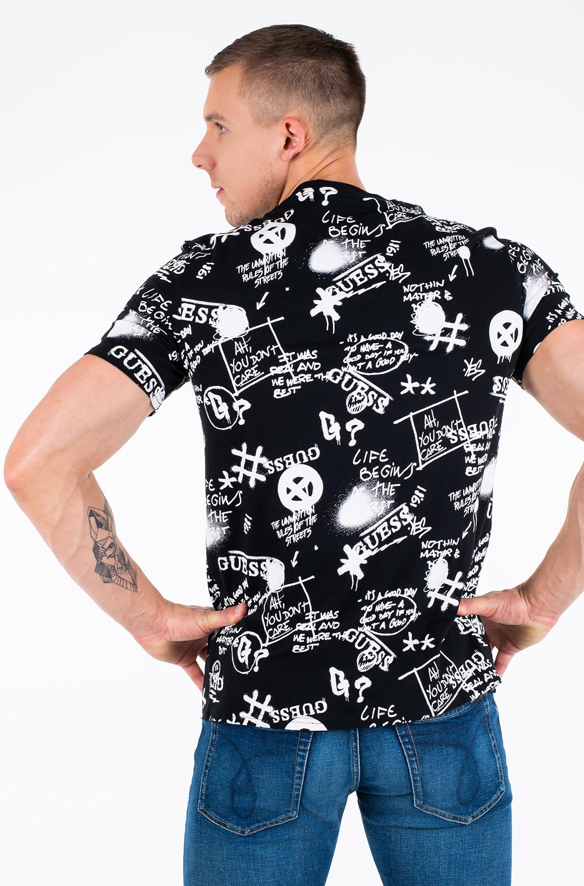 T-SHIRT LOGO ALL OVER COTONE GUESS | T-shirt | M0BI92 I3Z11F9NB