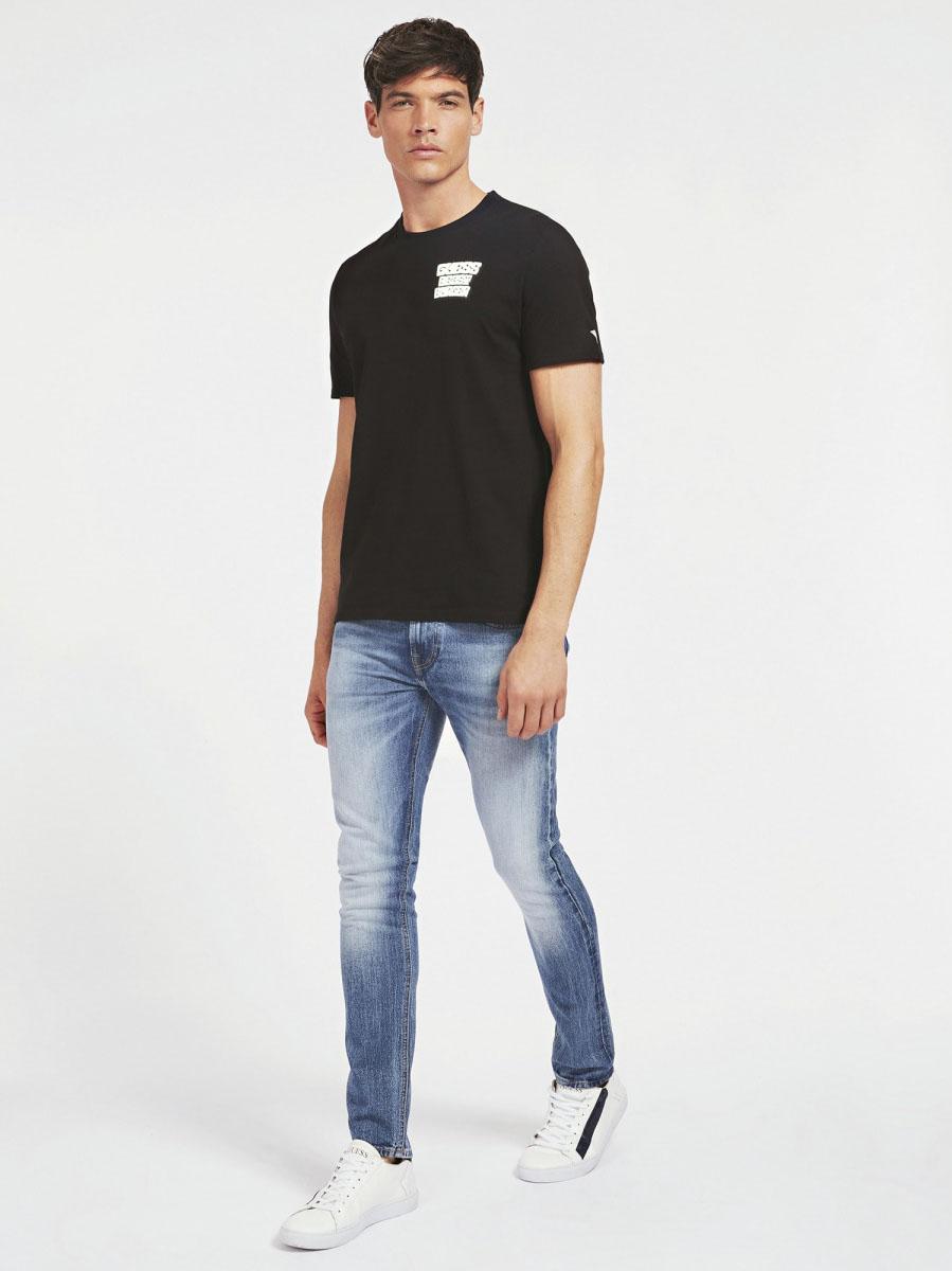 T-SHIRT STAMPA FRONTALE GUESS | T-shirt | M0YI42 K8FQ0JBLK