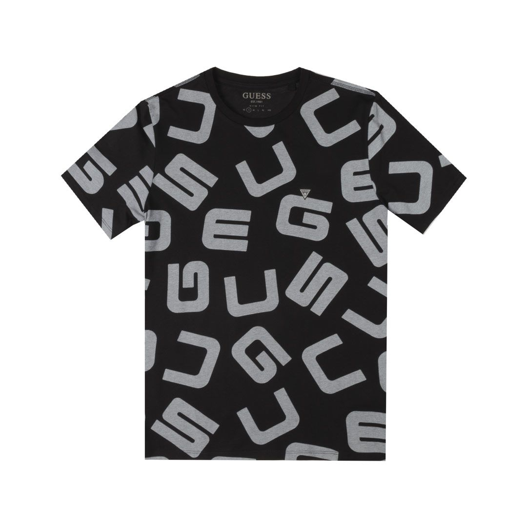T-SHIRT LOGO ALL OVER GUESS   T-shirt   M0YI84 I3Z00P42H