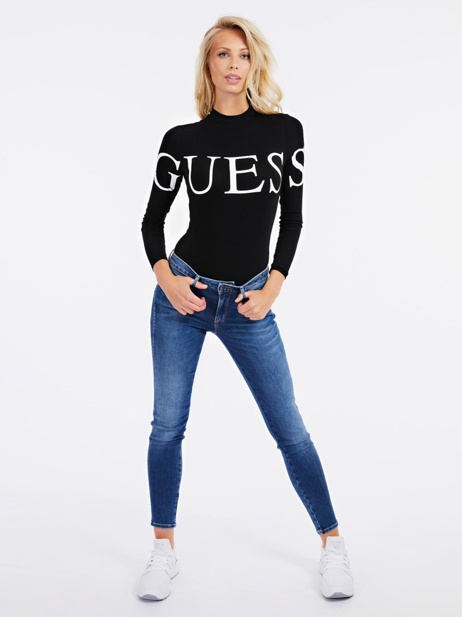 Body con logo GUESS | Body | W0BP04 K68D2JBLK