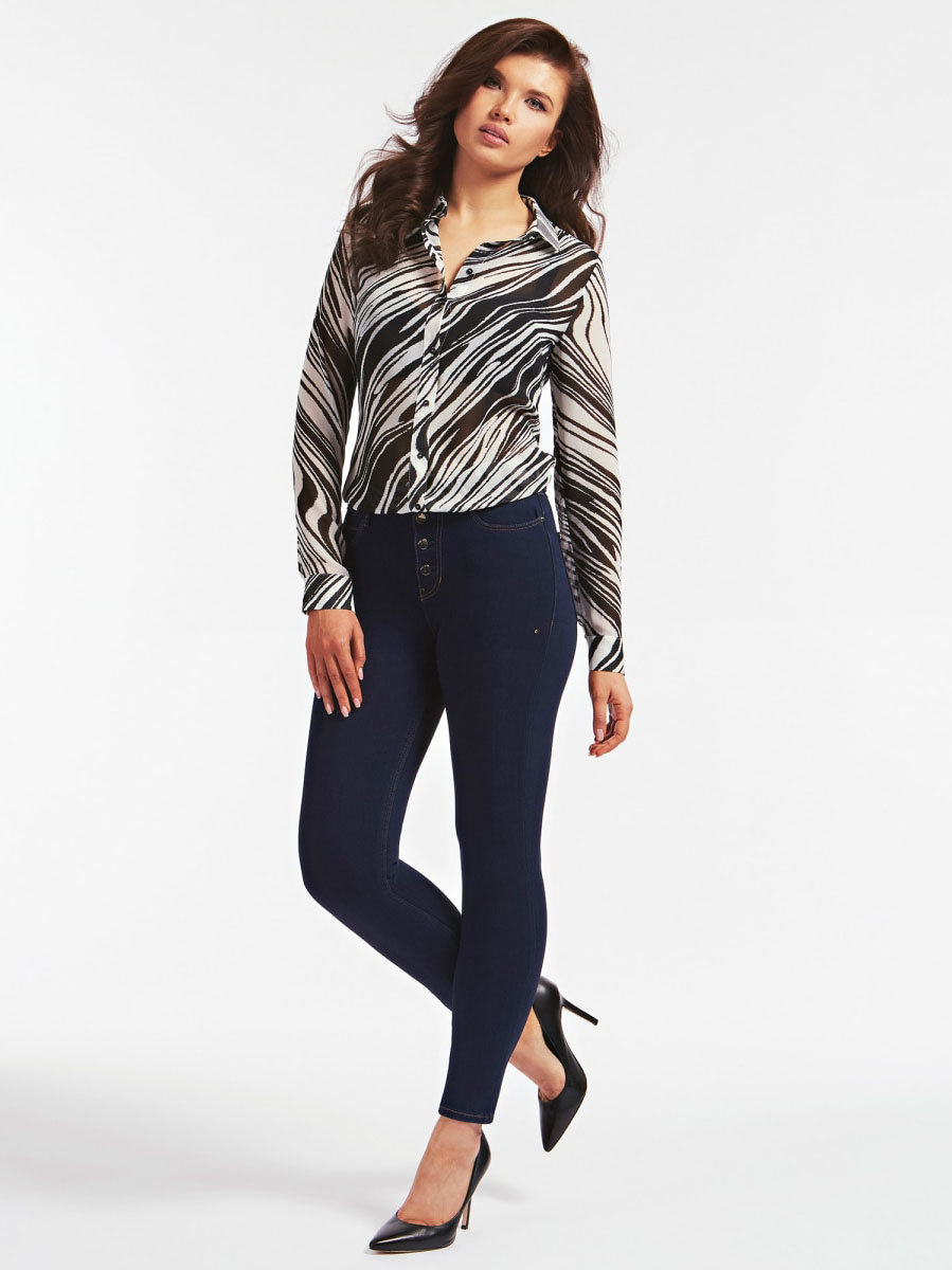 CAMICIA STAMPA ALL OVER GUESS | Camicie | W0YH96 W70Q0P01H