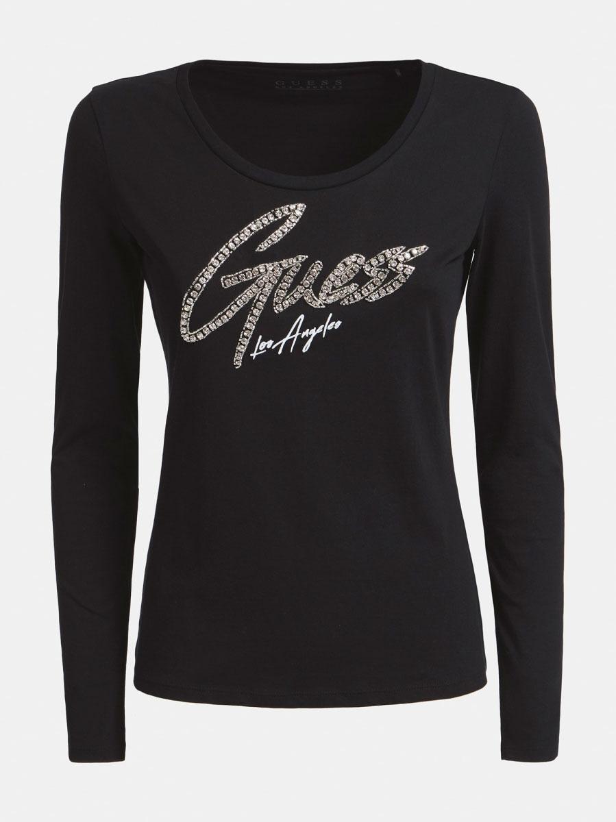 T-SHIRT LOGO FRONTALE GUESS | T-shirt | W0YI65 JA900JBLK