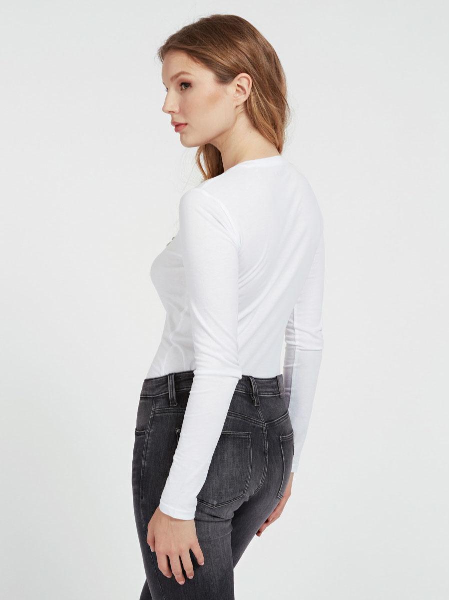 T-SHIRT LOGO FRONTALE GUESS   T-shirt   W0YI65 JA900TWHT