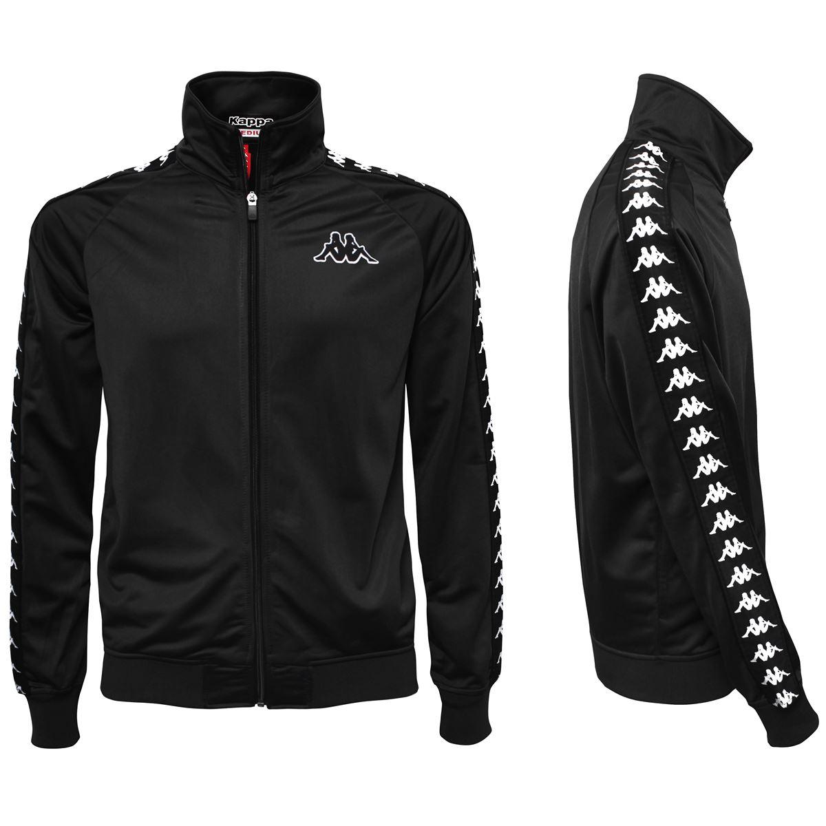 Felpa da uomo in tricot garzato Kappa | Felpe | 301EFU0J61 BLACK-BLACK
