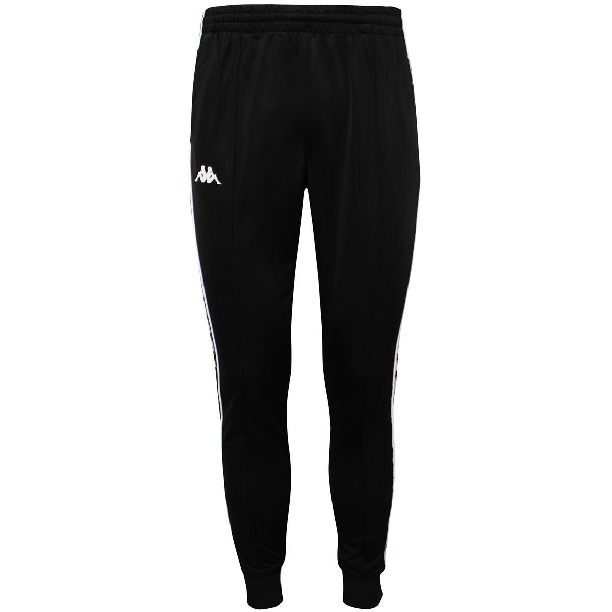 Pantalone da uomo in tricot garzato Kappa | Pantalone | 303KUC0A24 BLACK-WHITE