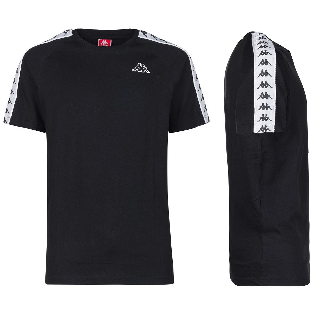 T-shirt girocollo da uomo in jersey Kappa | T-shirt | 303UV10945 BLACK-WHITE