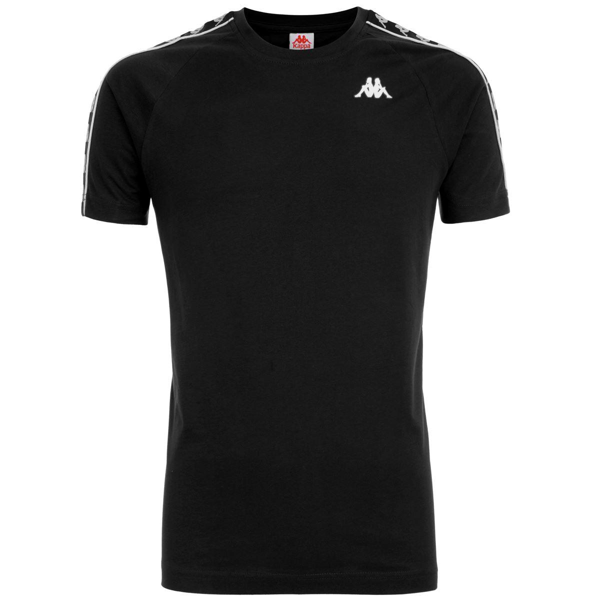T-shirt girocollo da uomo in jersey Kappa | T-shirt | 303UV10C02 BLACK-BLACK