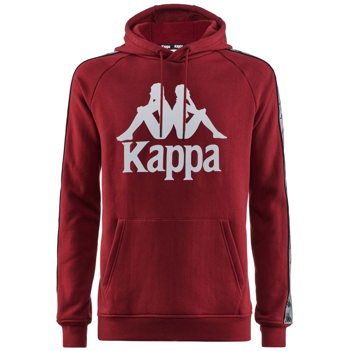 Felpa unisex con cappuccio in felpa garzata Kappa | Felpa | 3116NXWA03 RED DAHLIA-SILVER