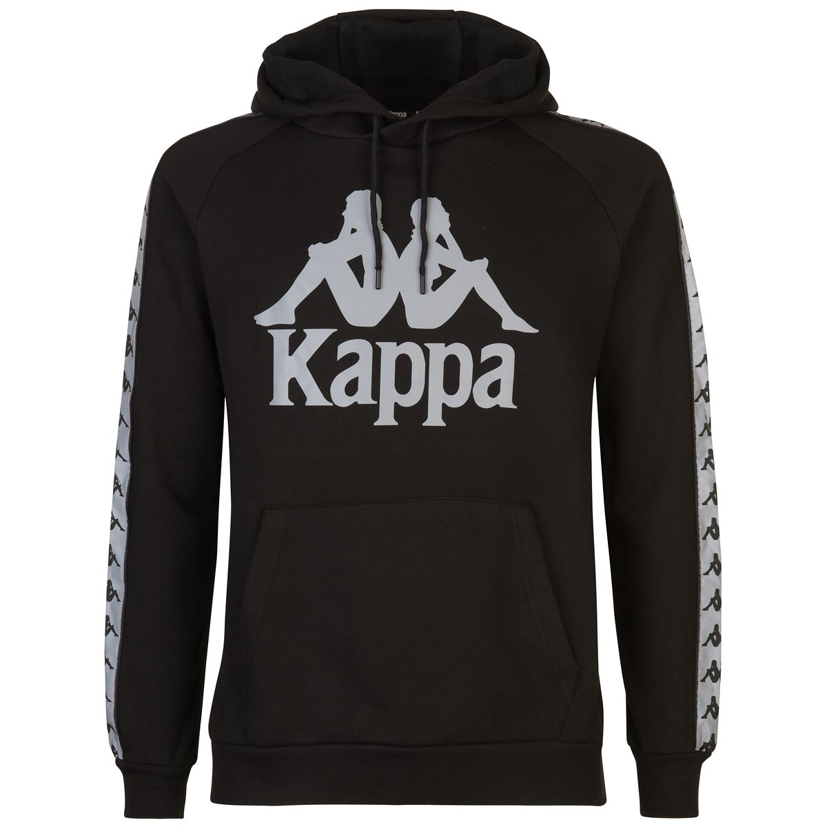 Felpa unisex con cappuccio in felpa garzata Kappa | Felpa | 3116NXWA09 BLACK-SILVER