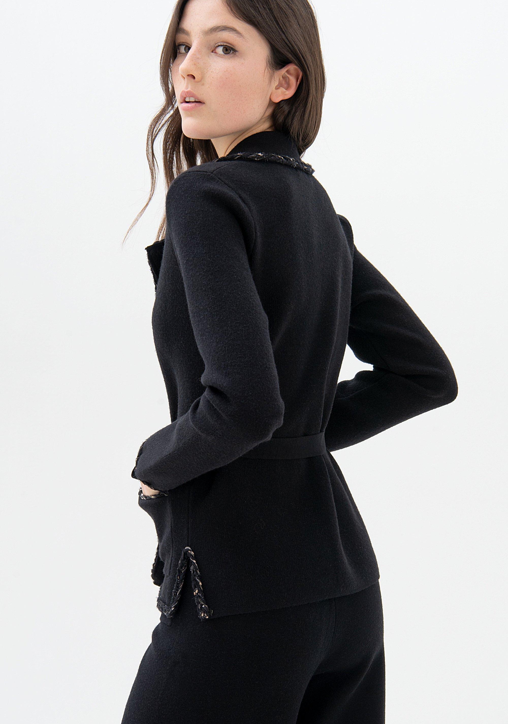 Blazer regular in maglia FRACOMINA | Giacche | F321WJ2007K45901053 BLACK