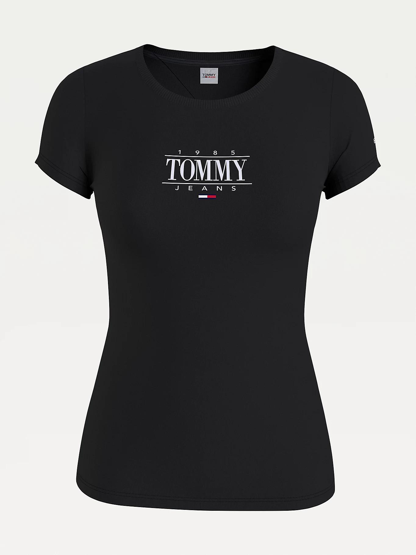 T-SHIRT ESSENTIAL SKINNY FIT CON LOGO TOMMY JEANS | T-shirt | DW0DW11239BDS BLACK