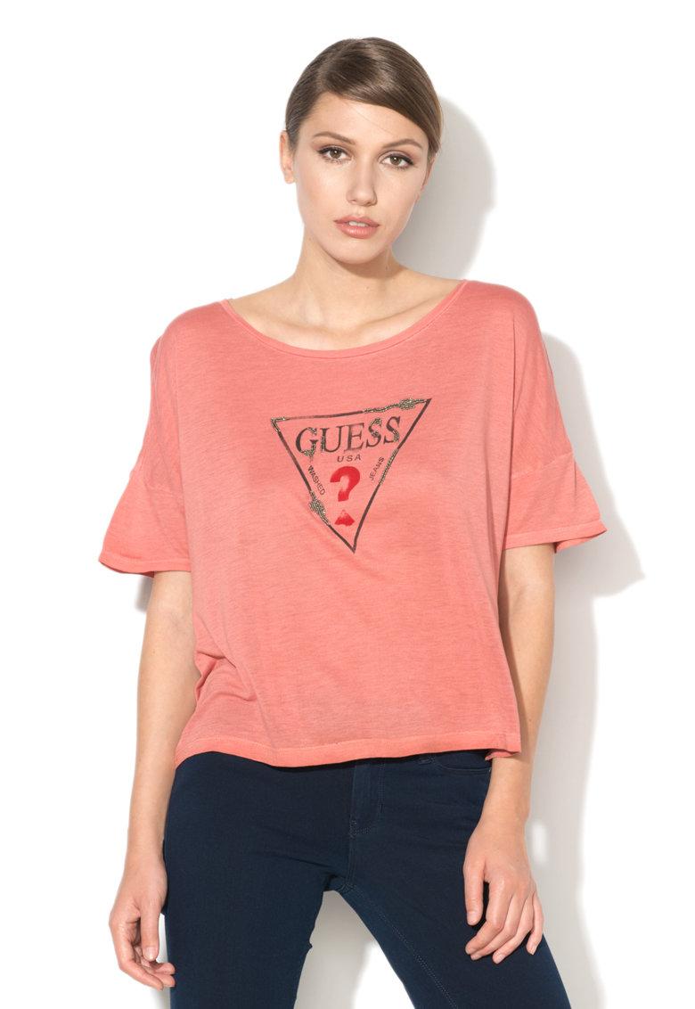 T-shirt logo GUESS | Maglie | W72I56 K4OM0FT48