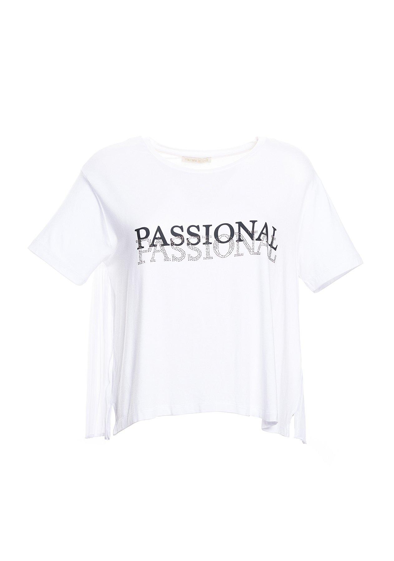 T-shirt con schiena plissettata FRACOMINA | T-shirt | FR20SP324278 WHITE