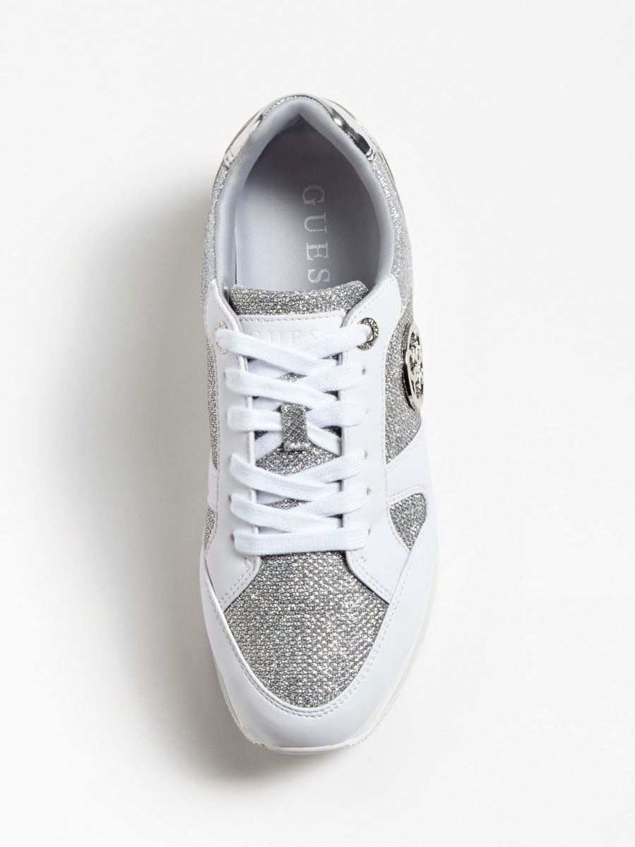 RUNNER DEALY EFFETTO GLITTER GUESS FOOTWEAR   Scarpe   FL5DLY FAM12WHISI