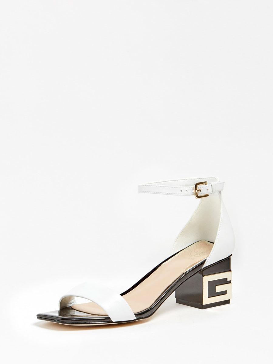 SANDALO MAEVA VERA PELLE GUESS FOOTWEAR | Scarpe | FL6EVA LEA03WHITE
