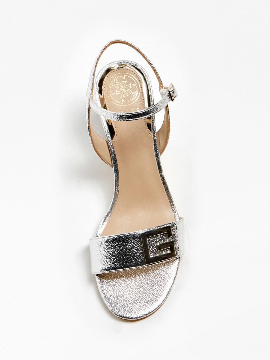 Sandalo Tacco Argento GUESS FOOTWEAR | Scarpe | FL6MC2 LEL03SILVE