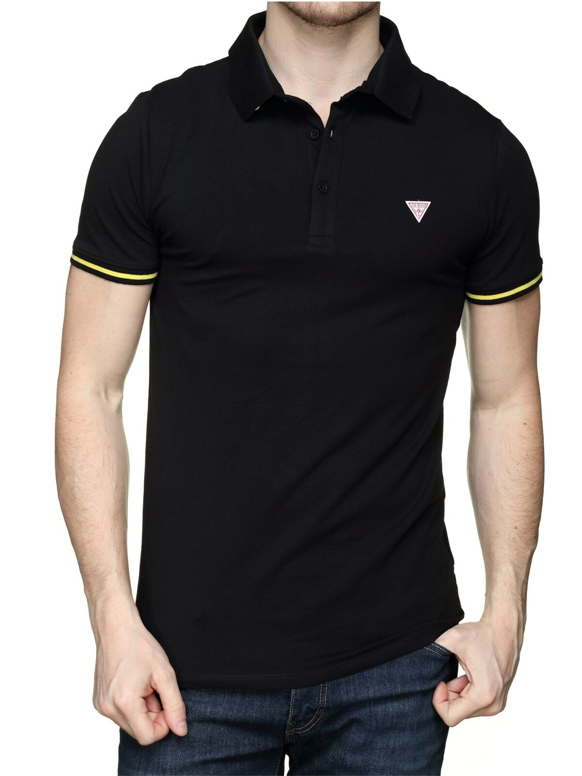 Polo Cotone Stretch GUESS | Polo | M02P45 J1300JBLK