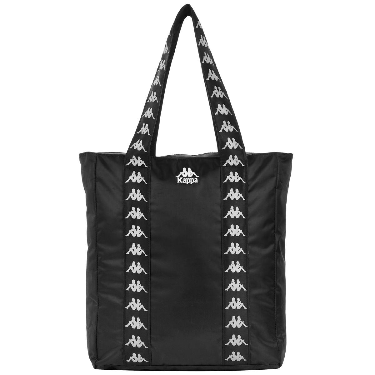 Shopping bag unisex in poliestere. Kappa   Borsa   3030CH0902 BLACK-WHITE