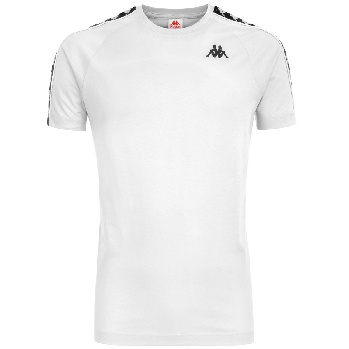 T-shirt girocollo da uomo in jersey. Kappa | T-shirt | 303UV10A99 WHITE-BLACK